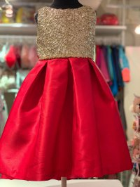 #11629 size: 6/6x yrs Red color party dress
