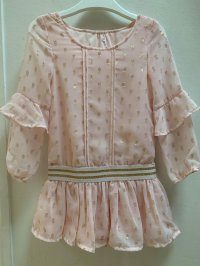 #11492 size: 2/3/4/6X/11-12 yrs Light Pink Chiffon Dress