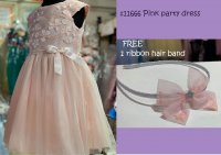 #11666 size 4/6/6X yrs pink sequin dress