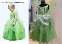 #14068 size : 2-3/4-5/6-7/8-9yrs green party dress + wings