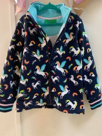 #13237 size 3-4/5-6/7-8/9-10yrs Dark blue color unicorn pattern jacket