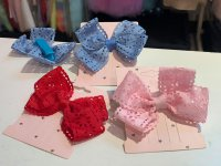 #11821 Red/Blue/Pink Bow Hair clip