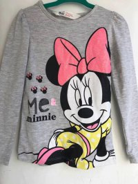 #8094 Size (90/130) (2/4-5 yrs) Grey long sleeve Minnie top