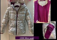 #11888 Size for 6-7/7-8/14-16 yrs 100% polyester, silver color jacket