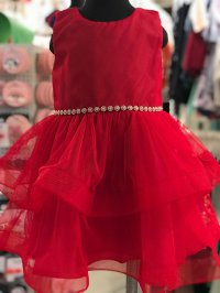 #9986 Size 8/10yrs Red dress