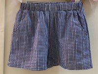 #12793 size: 7-8/8-9/9-10yrs Full cotton blue color checkers pattern shorts