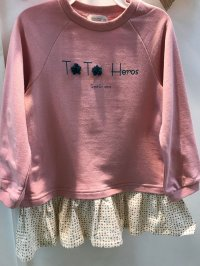 #9360 Size: 2-3/3-4/4-5/5-6/7-8yrs girl pink top