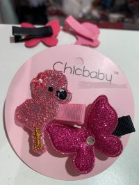 #10397 Animal Butterfly Hair Clip 2 Piece Set