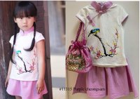 #11315 size :2/3/4yrs Purple color cheongsam
