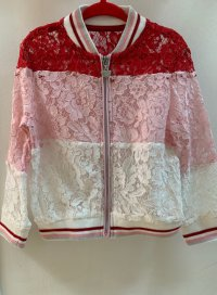#10740 size 2/3-4/5-6yrs Girls lace (white/pink/red) jacket