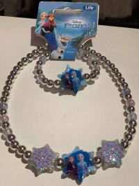 #12968 frozen necklace & bracelet 2pcs set