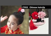 #7953 China flower hair clip