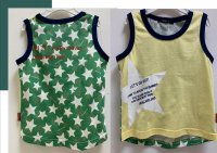 #11217 Size:1-2/3-4/4-5/6-7/7-8 Full cotton yellow and green color printing tee