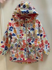 #11340 size: 5/6/7/8/9/10yrs White color animal pattern jacket