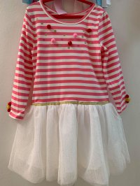 #10587 size4/6/8/10/12yrs Cotton stripe dress