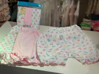 #12733 size : 5-6/6-7/7-8yrs Girls shorts 3pcs set