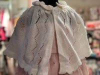 #10974 size: 1/2/3/4/5-6/6-7/7-8/8-9 yrs Offwhite color knit shawl