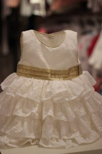 Size: 6-9m#1904 White Party Dres