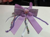 #11528 Purple sequins ribbon Elastic Band