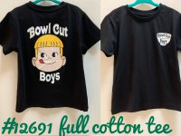 #12691 size :3-4/4-5/5-6/6-7/7-8/8-9yrs Full cotton black color cute boy pattern tee