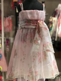 #8865 size:2-3yrs Rose mesh party dress