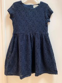 #11753 size : 4-5/5-6/6-7/7-8/8-9/10-11yrs navy lace dress