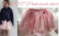 #9317 size: 3/8/12 yrs Pink veil skirt