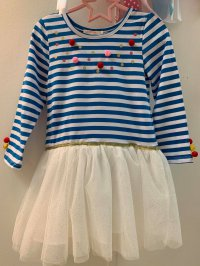 #10588 size4/5/6/10/12yrs Girls stripe dress