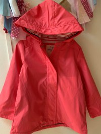 #11306 size: 4-5/5-6/6-7/yrs Pink color waterproof jacket