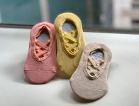 #12592 size: 4-6/7-9yrs three color low cut pad Socks