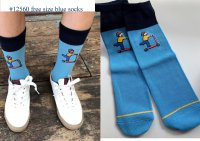 #12559 Free size! Dark blue and light color mix free size socks