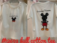 #12693 size :3-4/4-5/5-6/6-7/7-8/8-9yrs/Mama Full cotton white color tee