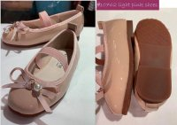 #10762 size : fit for : 3-9yrs Pink PVC shoes with ribbon