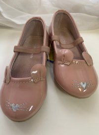 #7951 Size: : 2-3yrs Dusty pink Little Mouse Shoes
