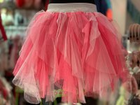 #11610 size : 1-2/3-4/5-6yrs Fuchsia color mesh skirt