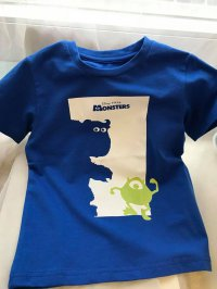 #8735 Size (100/120/140/150) Blue Monsters Inc tee