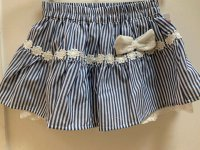 #11242 size: 4-5/5-6/6-7 yrs Blue Stripe Skirt