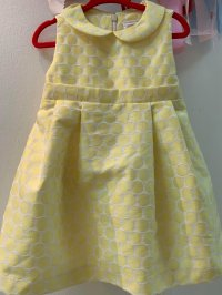 #10555 size12-18M /18-24M/3yrs Yellow party dress