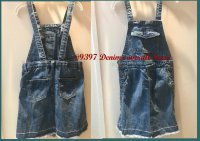 #9397 size: 5/6//9/10yrs Denim overall dres