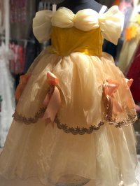 #8203 size: 2-3/4-5/6-7/8-9/10-11/12-13 yrs yellow party dress