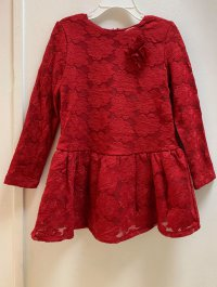 #11737 size: 4-5/5-6/6-7/7-8/9-10/11-12 yrs Dark Red Embroidered Top