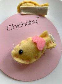 #11103 Hair Clip with Yellow Fish