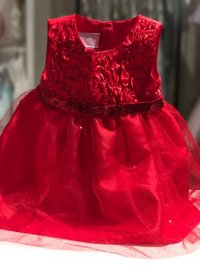 #8070 Size 12M/24M Red classic party dress