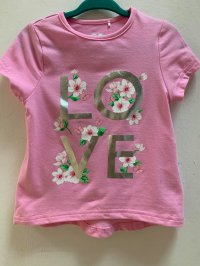 #12255 size:1/2/3/9yrs Pink color flower pattern top