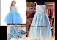 #11016 size: size2-3/4-5/6-7/8-9/10-11yrs Blue dress set