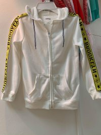 #12231 Size: 6-7/11-12/13-14 yrs 48% cotton, 52% polyester, white color jacket