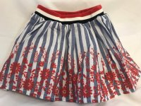 #9411 size: 3/4/5/6/8/10/12 yrs Full cotton stripe floral skirt