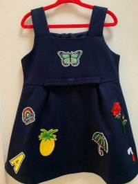 #10462 size : 1-2/4-5/5-6yrs Navy jumper skirt