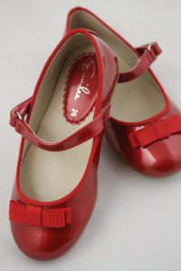 #6771 size:29/30/31/33(約合4-9歲yrs)Red enamel leather shoes