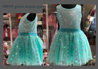 #8604 Size:14 yr Mint green sequin party dress